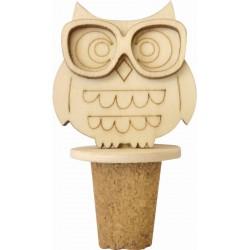Bottle plug 50mm x 30mm x 70mm - Owl