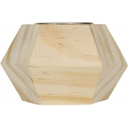 GEOMETRIC CANDLE HOLDER IN WOOD 90x60x90mm