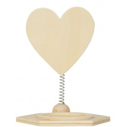 HEART CANDLE HOLDER IN WOOD 90x115x78