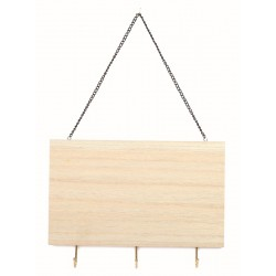 KEYS HOLDER WITH 3 HOOKS IN WOOD 250x180x5mm