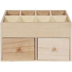 STORAGE BOX OF TEN IN WOOD 240x120x190mm