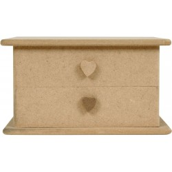 JEWEL BOX WITH MIRROR (MDF)