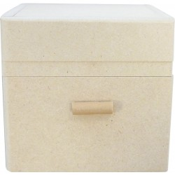 SQUARE BOX, ONE DRAWER 85X80X80mm