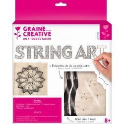 String art raw board 220mm x 220mm x 9mm - Rosette black