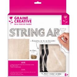 String art raw board 220mm x 220mm x 9mm - Neutral black