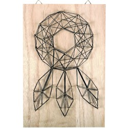 String art raw board 200mm x 300mm x 9mm - Dreamcatcher black