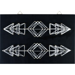 String art black board 300mm x 200mm x 9mm - Geometric arrows