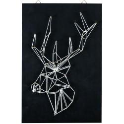 String art black board 200mm x 300mm x 9mm - Reindeer