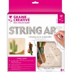 String art plaat 220mm x 220mm x 9mm - Cactus