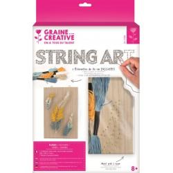 String art plaat 200mm x 300mm x 9mm - Pluimen