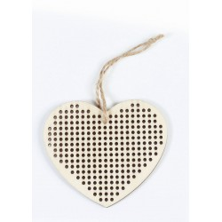 HEART HANGER TO BE EMBROIDERED IN WOOD SS 90x90x3mm