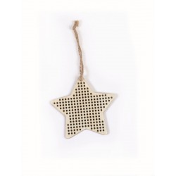 STAR HANGER TO BE EMBROIDERED IN WOOD SS 90x90x3mm