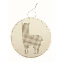 LLAMA HANGER TO BE EMBROIDERED IN WOOD LS 220x220x3mm