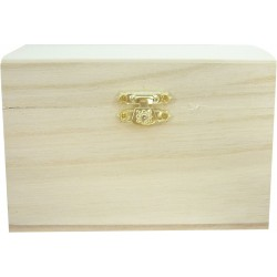 WOODEN CHEST WITH CLASP 130X130X100