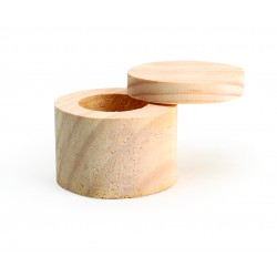Wooden box round with rotating lid Ø 60mm x 45mm