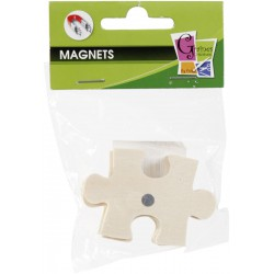 4 WOOD FORMS MAGNETS PUZZLE 50mm