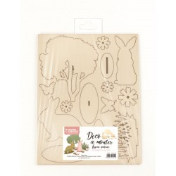 Wooden DIY Rabbit nature 175mm x 225mm