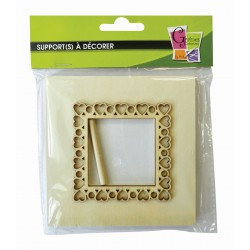 HEARTS PHOTO FRAME SQUARE PATTERN 115x6x115