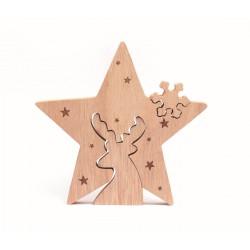 Centerpiece 150mm x 140mm x 20mm - Star joyeux Noël