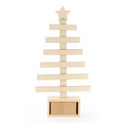 Wooden Christmas tree - Avent calendar 360mm x 170mm x 50mm