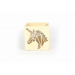 Wooden photophore 100mm x 100mm x 100mm - Unicorn