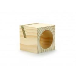 Portable wooden phone speaker 95mm x 95mm x 95mm