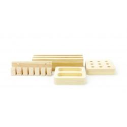 Wooden desk accessoires set 180mm x 140mm x 40mm