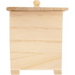 PLYWOOD SQUARE CASKET WITH LID 115X85X85mm