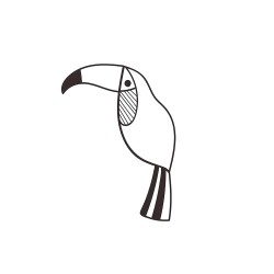 Wooden stamp - Toucan