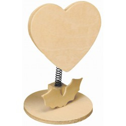 MEMO CLIP ON SPRING HEART 115mm