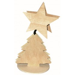 MEMO CLIP ON SPRING XMAS TREE + STAR 150mm