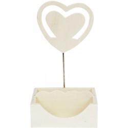MEMO HOLDER / PHOTO CLIP-HEART DESIGN HT 144mm