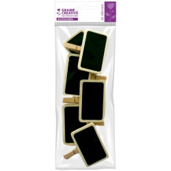 6 CLIPS WOODEN PEGS 90mm