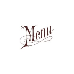 Wooden stamp - Menu