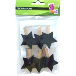 6 SLATE PEGS STAR 45mm