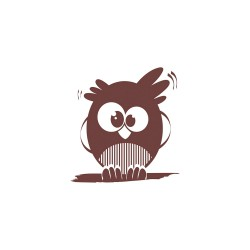 Wooden stamp - Owl