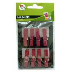 8 PEGS MAGNET RED 35mm