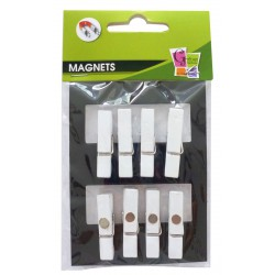 8 PEGS MAGNET WHITE 35mm