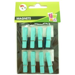 8 PEGS MAGNET TURQUOISE 35mm