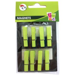 8 PEGS MAGNET GREEN 35mm