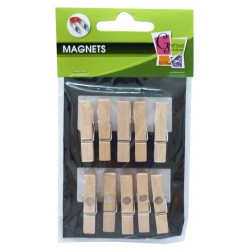 10 PEGS MAGNET NATURAL 35mm