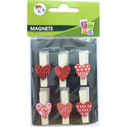 HEARTS PEGS (S/6)