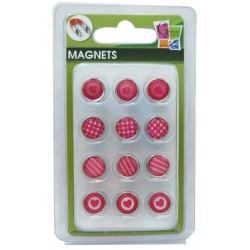 12 EPOXY MAGNETS PINK 10mm