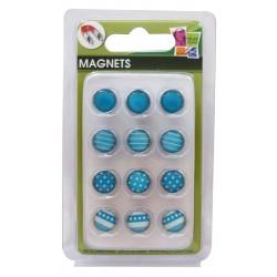 12 EPOXY MAGNETS BLUE 10mm
