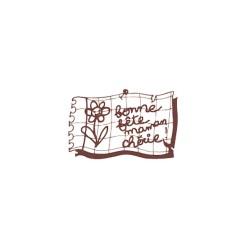 Wooden stamp FR - Bonne fete maman cherie