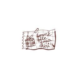 Wooden stamp FR - Bonne fete papa cheri