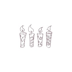 Wooden stamp - Candles