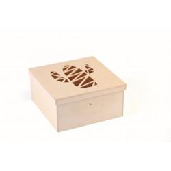 Cutting box in wood 150mm x 150mm x 75mm - Cactus