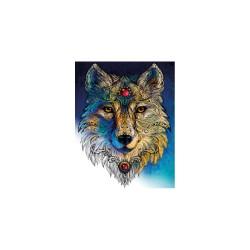 Diamond painting kit 40cm x 50cm - Wolf