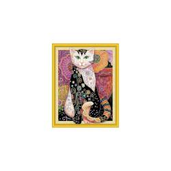 Diamond painting kit 47cm x 57cm - Cat